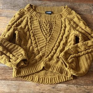Express brown chunky knit sweater size XS